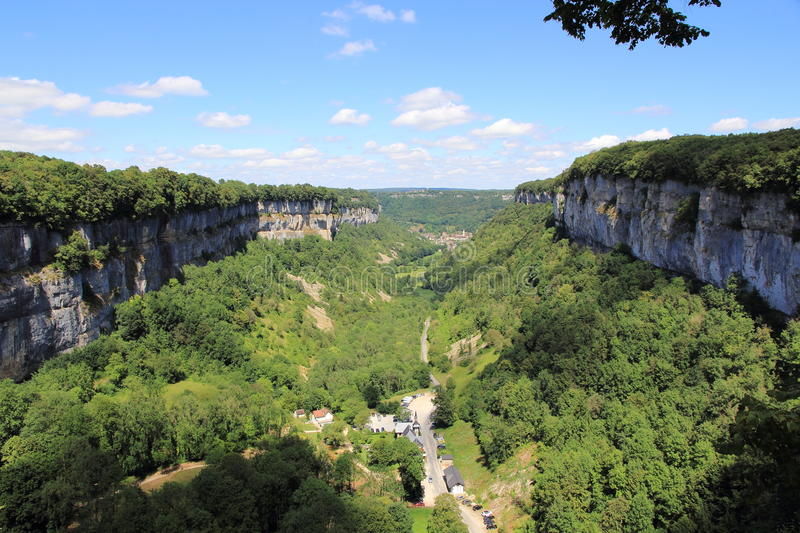 Baume-les-Messieurs in the Jura royalty free stock photo