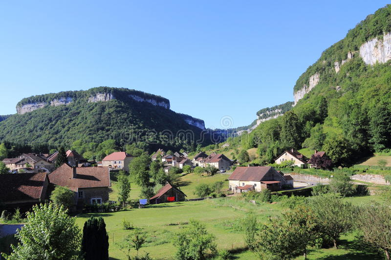 Baume-les-Messieurs in the Jura stock image