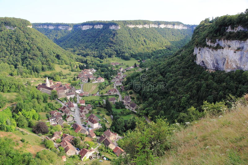 Baume-les-Messieurs in the Jura stock photos