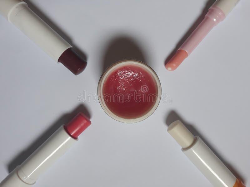 Baumes à lèvres photographie stock
