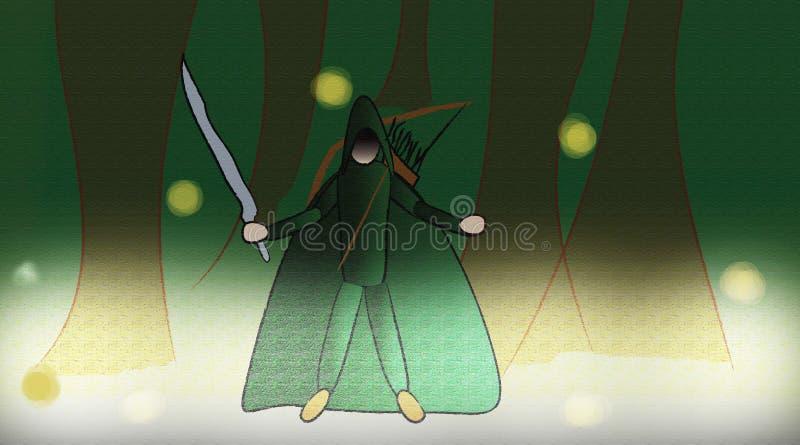Baumkrieger stockbild