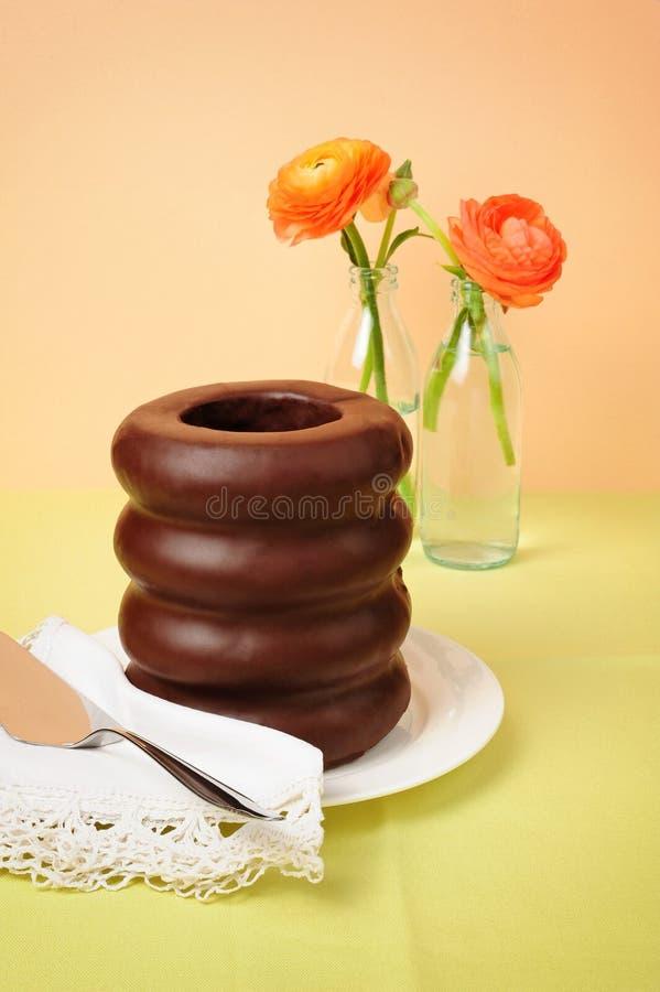 Baumkuchen, tradycyjny warstwa tort zdjęcia stock