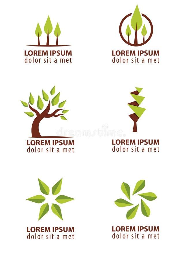 Baumlogodesign lizenzfreie abbildung