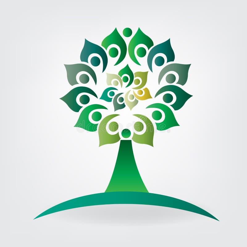 Baumlogoverbandsgeschäftsgesundheits-Naturleute vektor abbildung