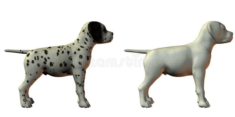 Baumuster des Dalmation Hund 3d lizenzfreie abbildung