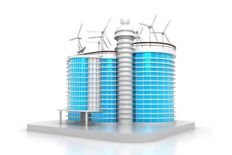 Baumuster des Gebäude-3D vektor abbildung