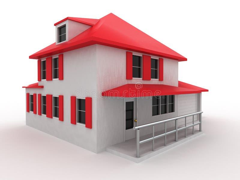 Baumuster des Hauses vektor abbildung