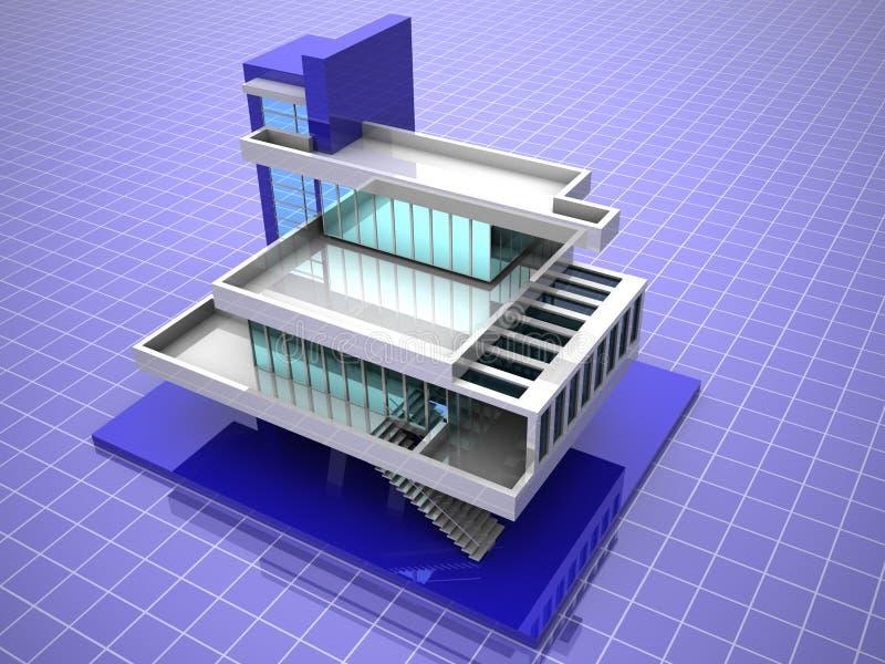 Baumuster des Hauses lizenzfreie abbildung