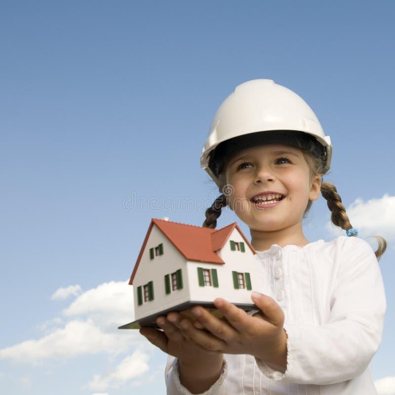 Baumuster des neuen Hauses lizenzfreie stockbilder