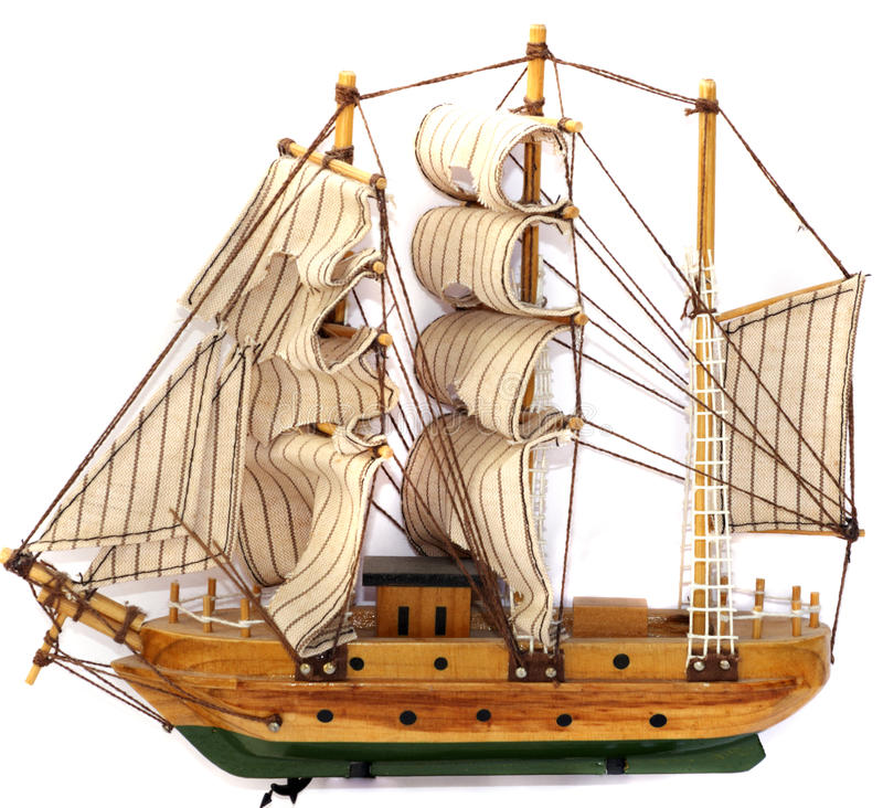 Baumuster des Segelbootes stockbilder