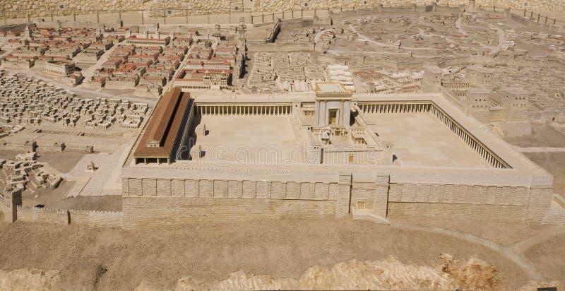 Baumuster des zweiten Tempels am Israel-Museum lizenzfreies stockfoto