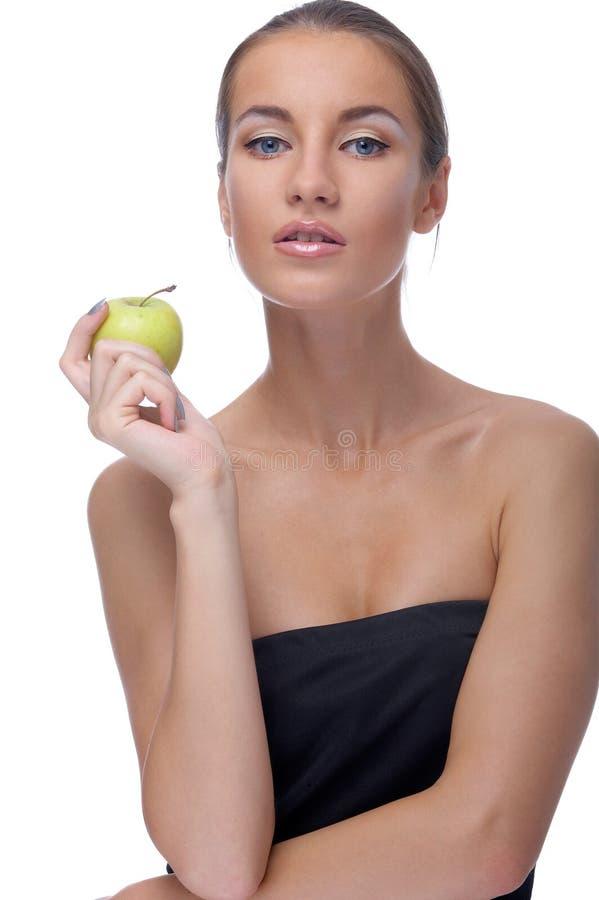 Baumuster mit Apfel lizenzfreie stockfotos