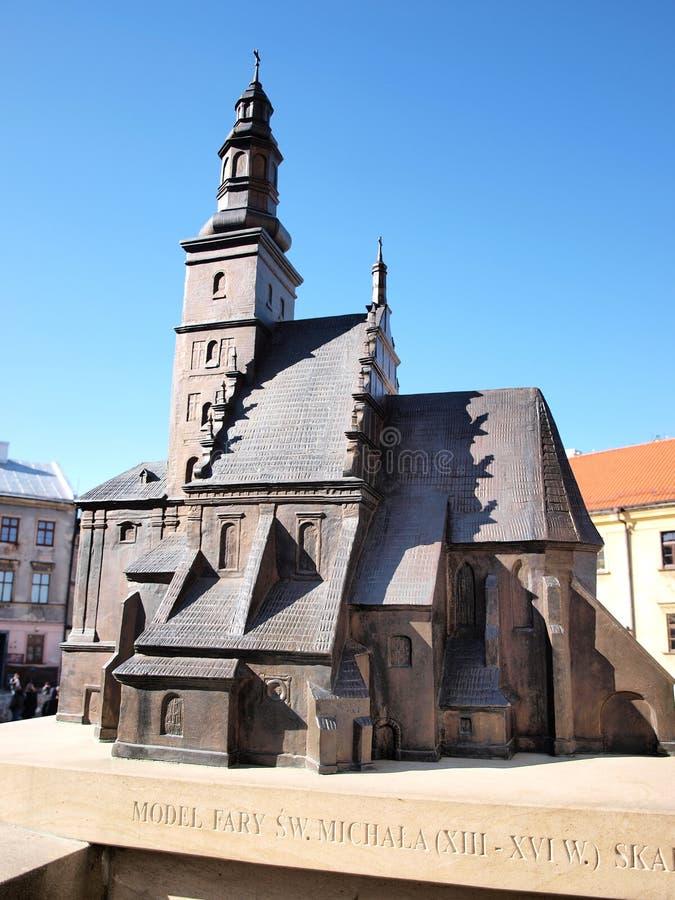 Baumuster von Str. Micheal die Erzengelkirche, Lublin lizenzfreie stockfotos