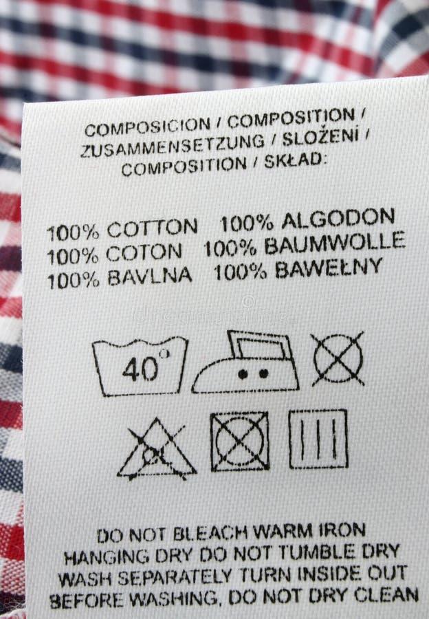 Baumwolle 100% stockbilder