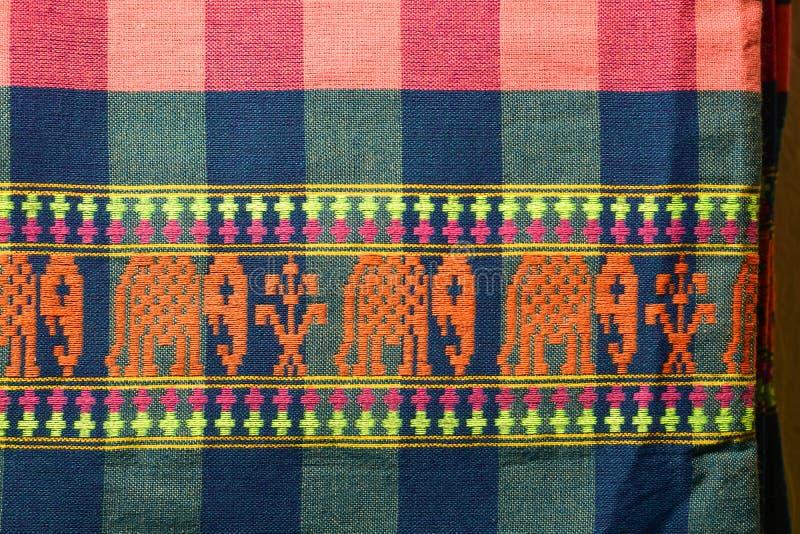 Baumwolle gesponnene Muster stockfoto