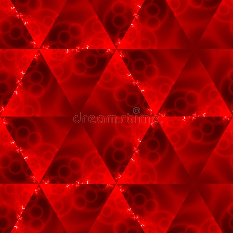 Baumwollgewebebeschaffenheit des roten Feuers, vibrierende Dreiecke tapezieren Hintergrund stock abbildung