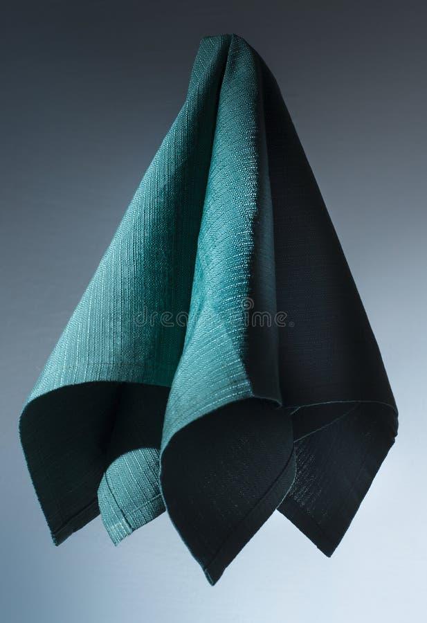 Baumwollgrüne Serviette lizenzfreies stockfoto