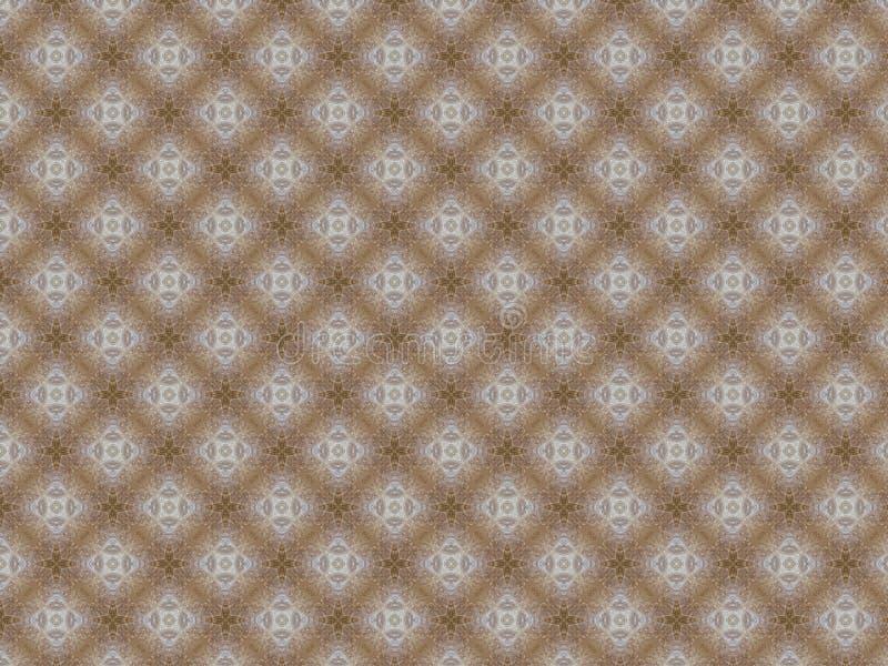 Baumwollsegeltuch mit einem Muster von Blumen und von Sternen von Sahne- und von weißem lizenzfreie abbildung