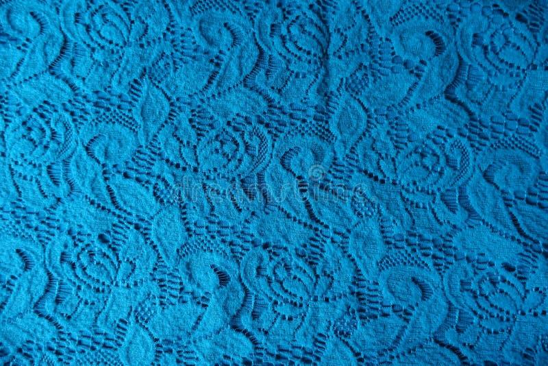 Baumwollspitze in der cerulean Farbe lizenzfreie stockfotografie