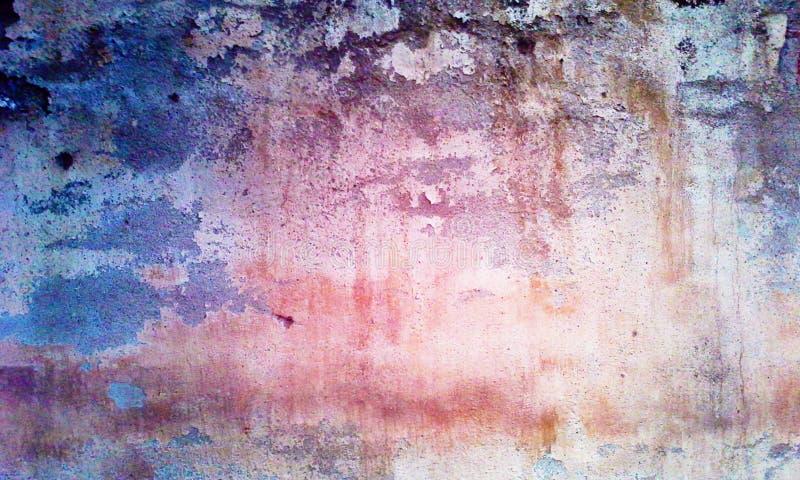 Baunilha e roxo da parede do Grunge fotografia de stock