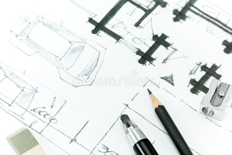 Zeichnen Mit Bleistift. Stock Abbildung   Illustration Von Papier, Projekt: