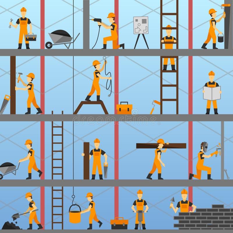 Bauprozess-Hintergrund stock abbildung