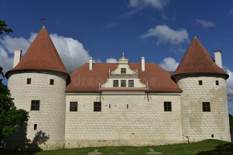 Bauska Castle, Latvia, North Europe. Bauska Castle Latvian: Bauskas pils; German: Schloss Bauske is a complex consisting of the ruins of an earlier castle and a stock images