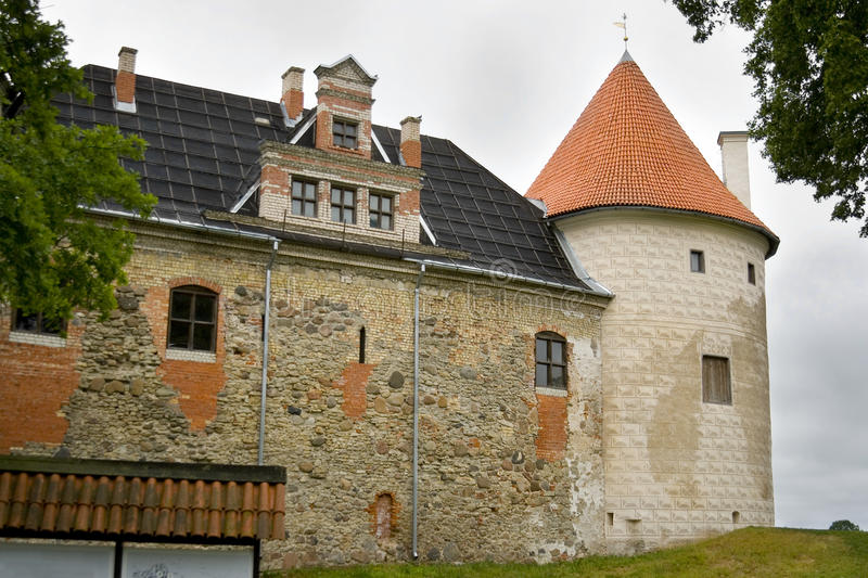 Bauska Castle. Is a complex consisting of the ruins of an earlier castle and a later palace on the outskirts of the Latvian city of Bauska royalty free stock photos