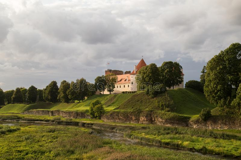 Bauska Castle - Bauskas pils, Latvia. Bauska Castle is a complex consisting of the ruins of an earlier castle and a later palace on the outskirts of the Latvian royalty free stock images