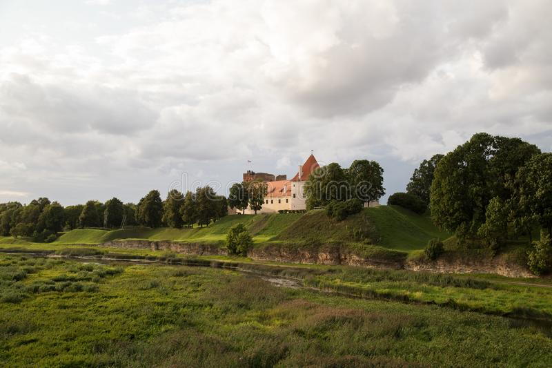 Bauska Castle - Bauskas pils, Latvia. Bauska Castle is a complex consisting of the ruins of an earlier castle and a later palace on the outskirts of the Latvian stock photos
