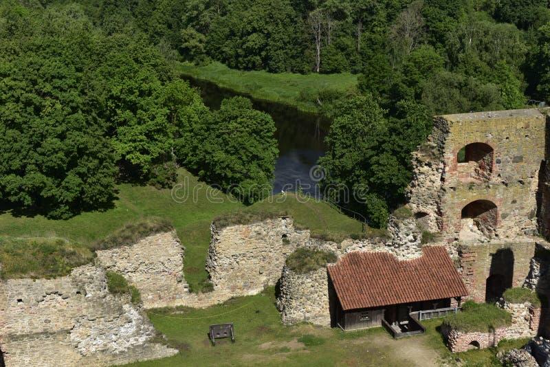 Bauska Castle, Latvia, North Europe. Bauska Castle Latvian: Bauskas pils; German: Schloss Bauske is a complex consisting of the ruins of an earlier castle and a stock photography