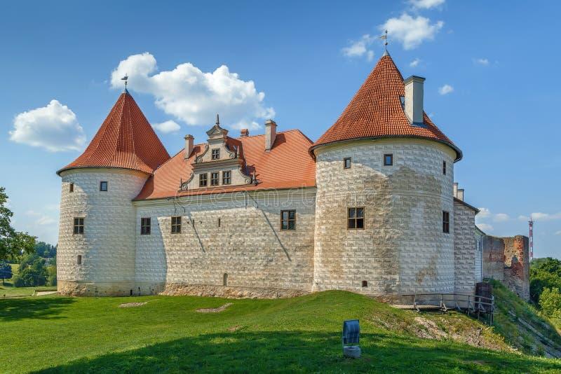 Bauska Castle, Latvia. Restored part of the Bauska castle, Latvia stock photo