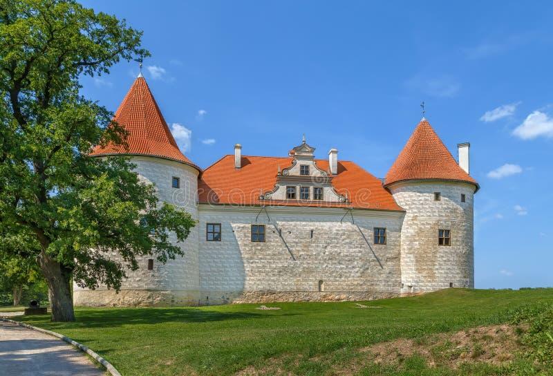 Bauska Castle, Latvia. Restored part of the Bauska castle, Latvia royalty free stock photo