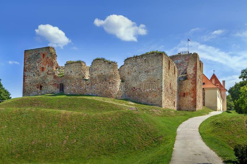 Bauska Castle, Latvia. Ruins of the Livonian part of the Bauska castle, Latvia royalty free stock photography