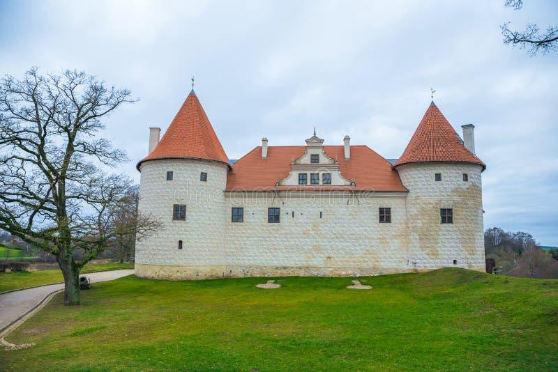Bauska, old castle. Bauska, old castle, 2014, Latvia. Historic building in Bauska city royalty free stock photos
