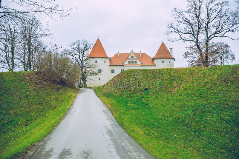 Bauska, old castle. Bauska, old castle, 2014, Latvia. It`s a old castle in city Bauska. Many peoples go to this place, because it`s historic building stock images