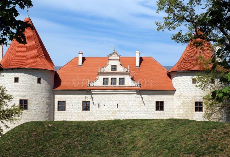 Bauska old castle in summer day. Bauska castle in summer day stock photos