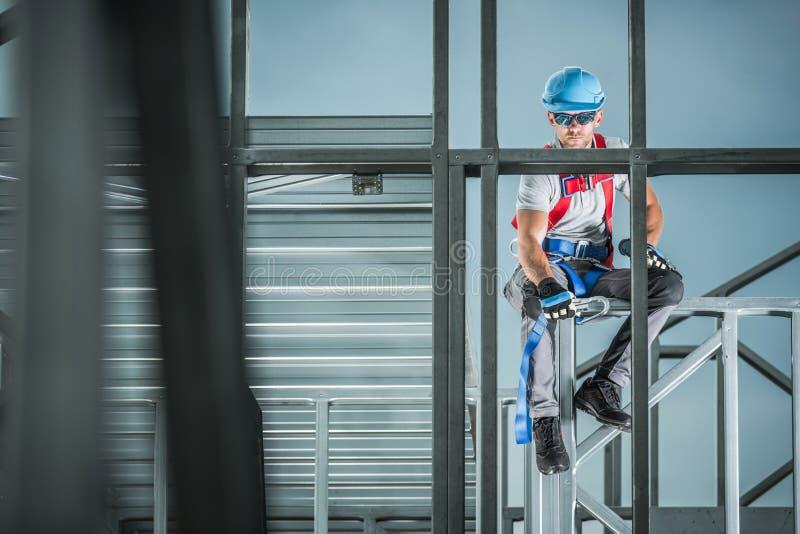Baustelle-Auftragnehmer lizenzfreie stockfotografie