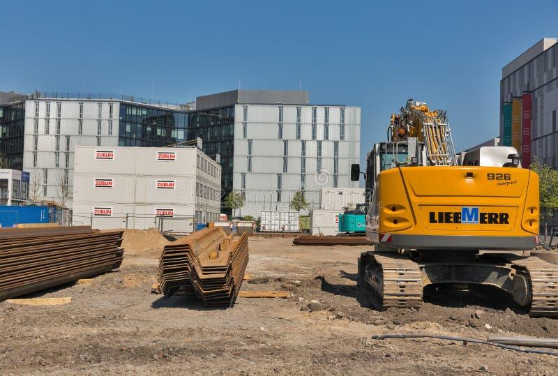 Baustelle in Berlin, Deutschland stockbild