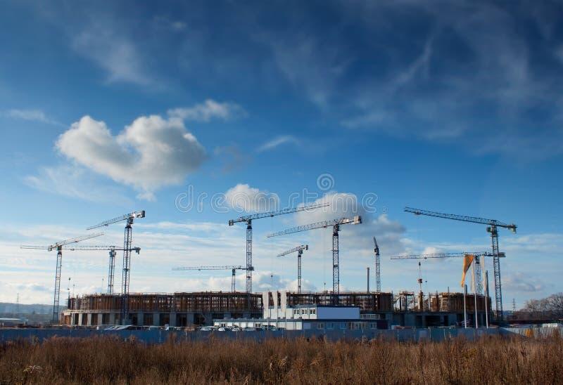 Baustelle der baltischen Arena lizenzfreie stockfotos