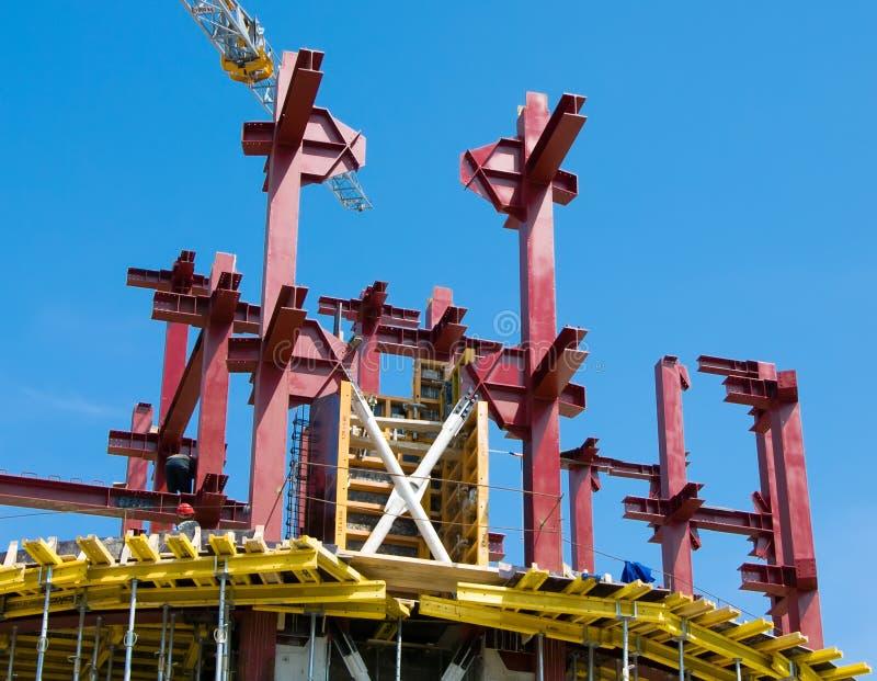 Baustelle des Gebäudes stockfotos