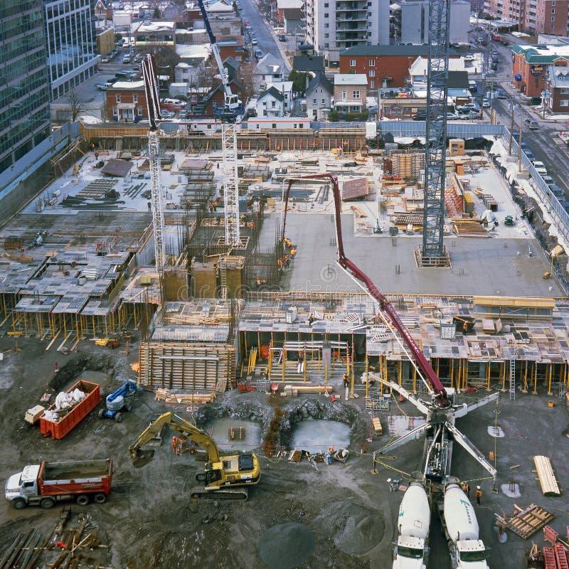 Baustelle, Gatineau Quebec stockfoto