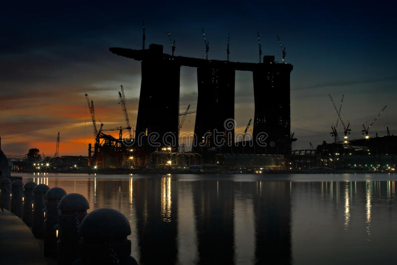 Baustelle am Tagesbruch stockfotografie