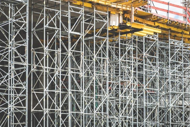 Baustellerahmen/Baugerüsthintergrund lizenzfreie stockfotos