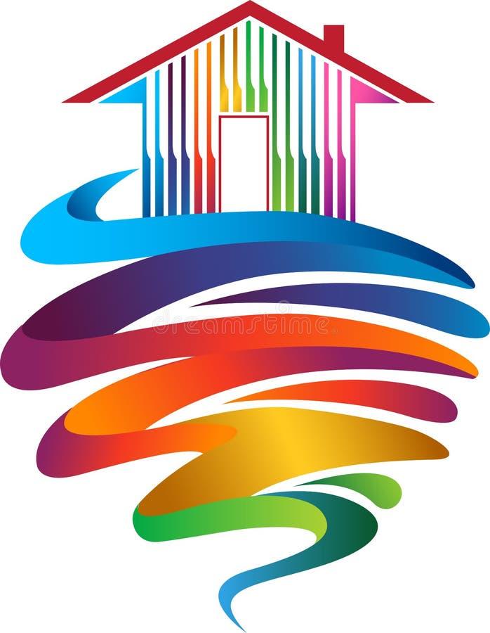 Bautenanstrichfarbelogo lizenzfreie abbildung