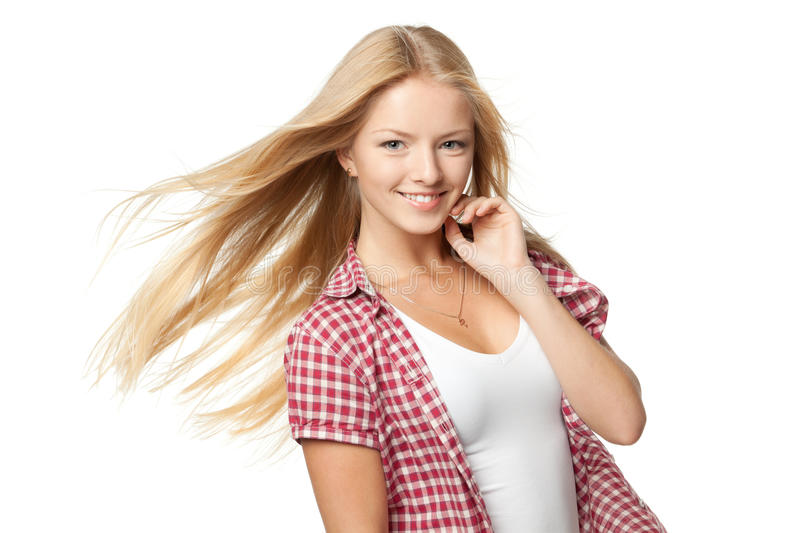 Bautiful blond female royalty free stock photography