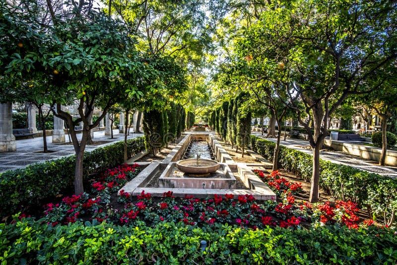 Bautiful park, Palma de Mallorca, Spain. Bautiful park in Palma de Mallorca, Spain stock image