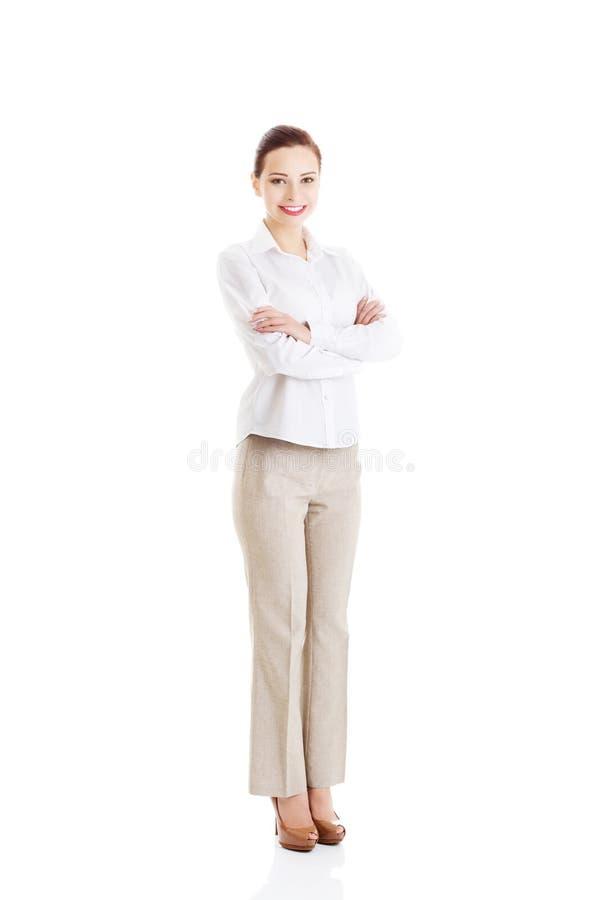 Bautiful ung affärskvinna. arkivfoto