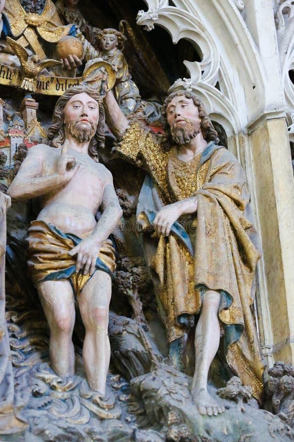 Bautismo de Jesús fotografía de archivo libre de regalías