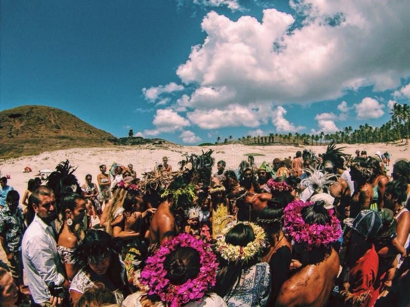 Bautismo en la isla del este foto de archivo libre de regalías